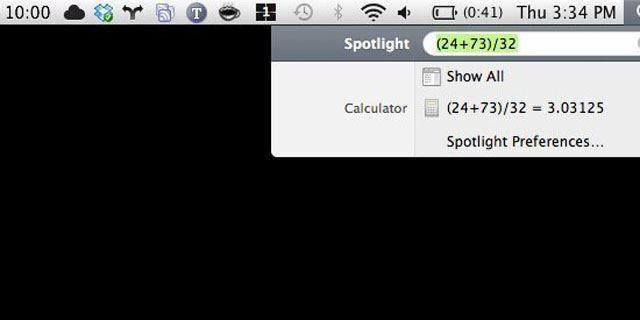 Извършете математически изчисления чрез Spotlight