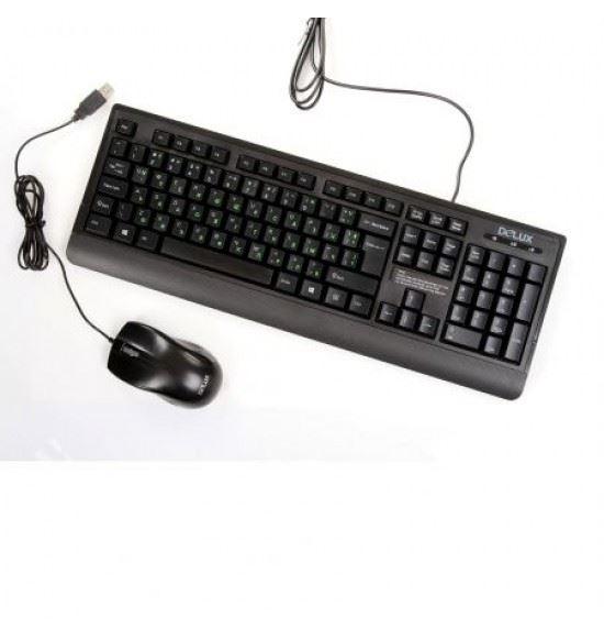 Клавиатура + мишка Delux К6010+М375 – 4806