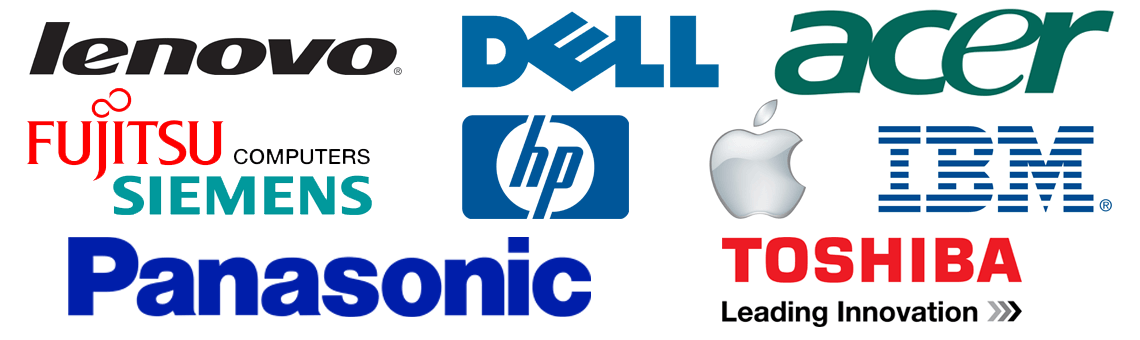 lenovo dell hp ibm panasonic fujitsu apple
